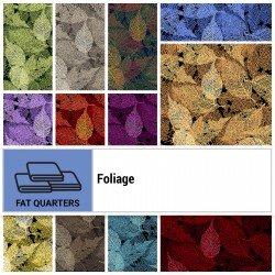 FOLI-18X22 - FOLIAGE FAT QUARTER BUNDLE BY P&B BOUTIQUE 22PCS