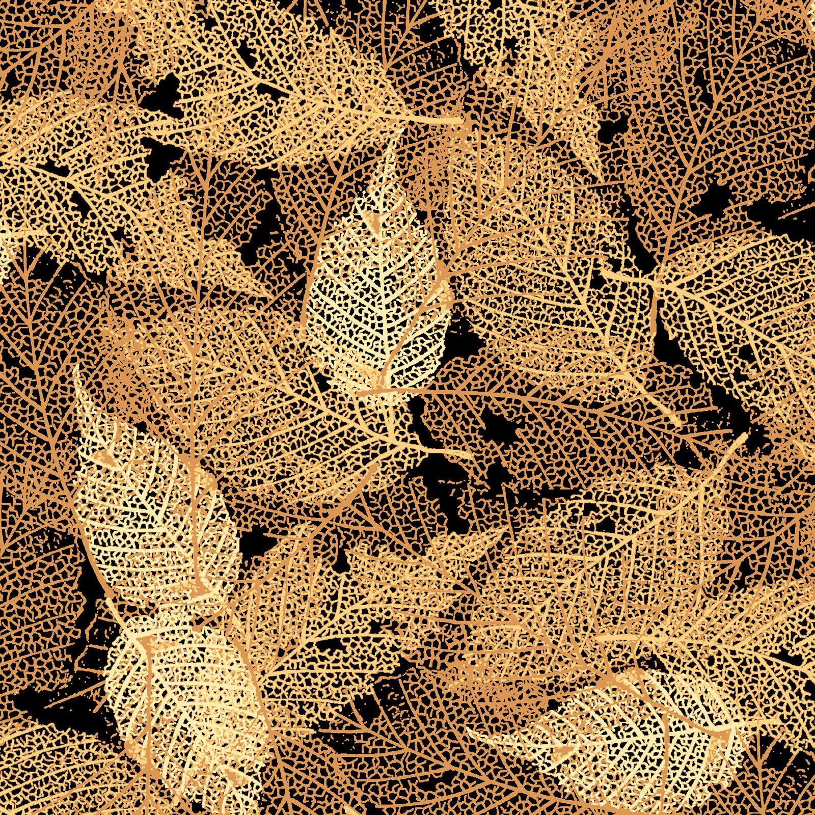 FOLI-4478 AU - FOLIAGE BY P&B BOUTIQUE TEXTURE LEAVES GOLD - ARRIVING IN MAY 2021