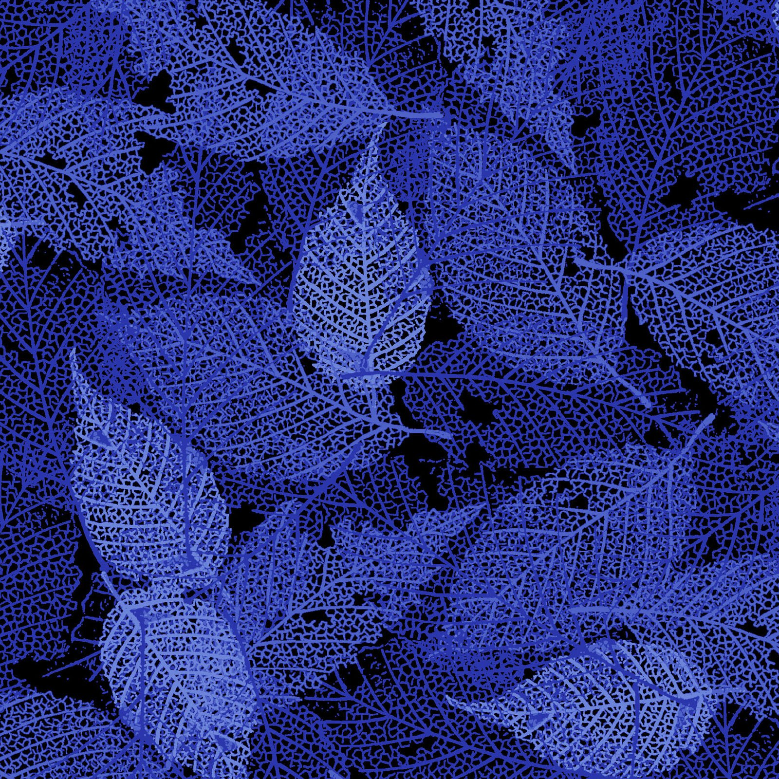 FOLI-4478 BB - FOLIAGE BY P&B BOUTIQUE TEXTURE LEAVES DK BLUE - ARRIVING IN MAY 2021