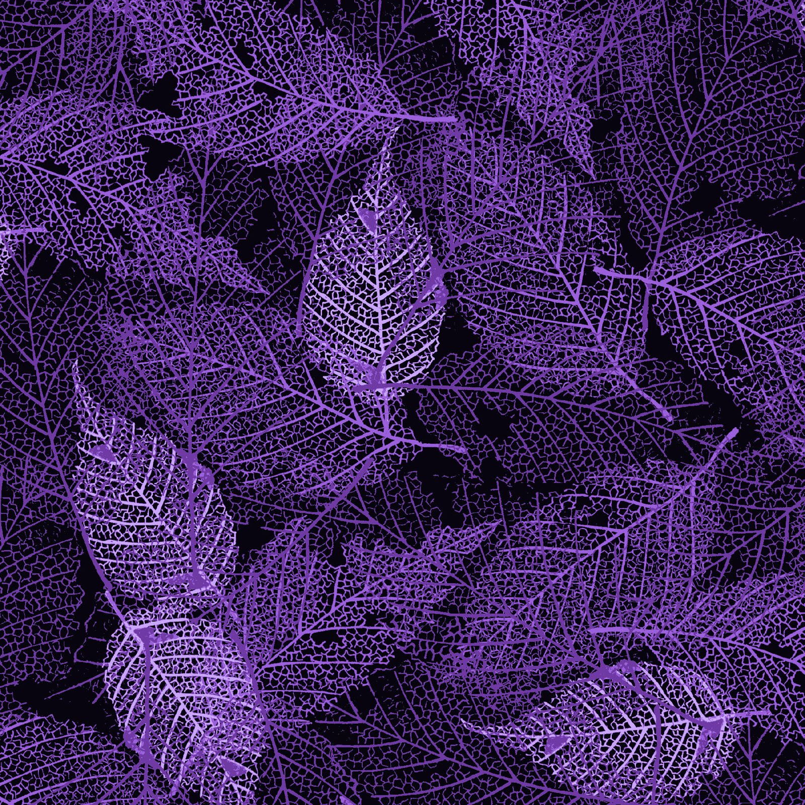 FOLI-4478 C - FOLIAGE BY P&B BOUTIQUE TEXTURE LEAVES PURPLE - ARRIVING IN MAY 2021