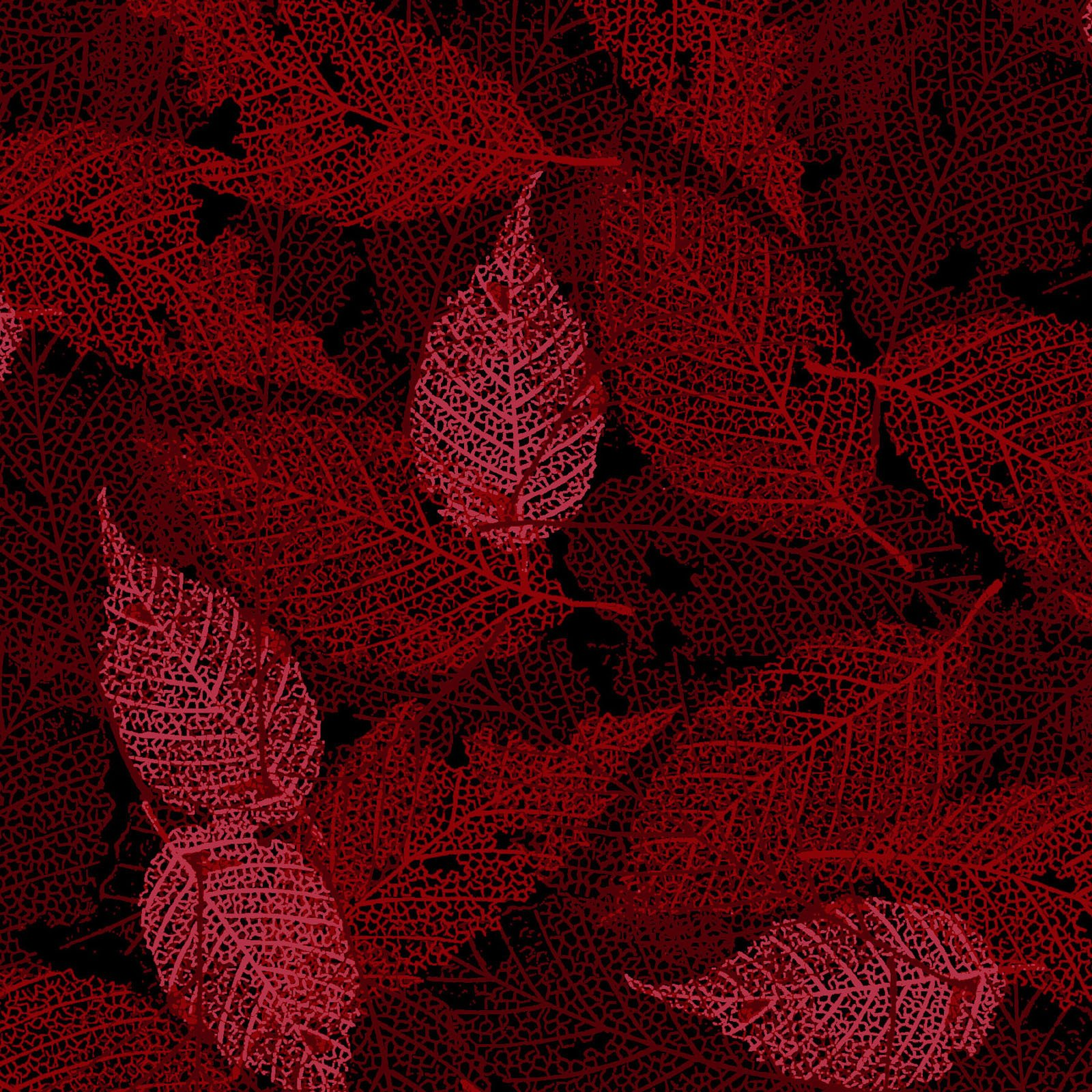 FOLI-4478 DR - FOLIAGE BY P&B BOUTIQUE TEXTURE LEAVES DK RED - ARRIVING IN MAY 2021