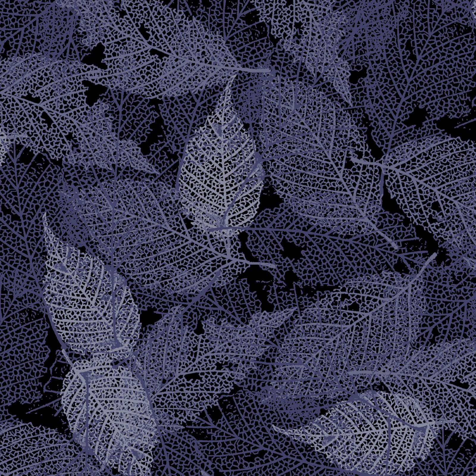 FOLI-4478 DS - FOLIAGE BY P&B BOUTIQUE TEXTURE LEAVES DK SILVER - ARRIVING IN MAY 2021