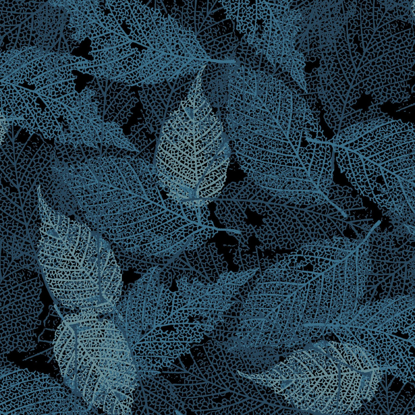 FOLI-4478 DT - FOLIAGE BY P&B BOUTIQUE TEXTURE LEAVES DK TEAL - ARRIVING IN MAY 2021