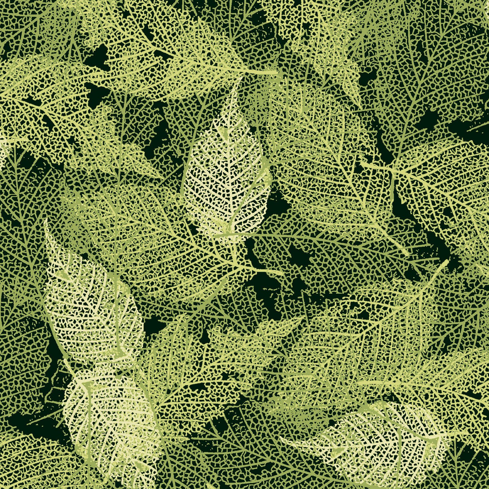 FOLI-4478 G  - FOLIAGE BY P&B BOUTIQUE TEXTURE LEAVES GREEN - ARRIVING IN MAY 2021