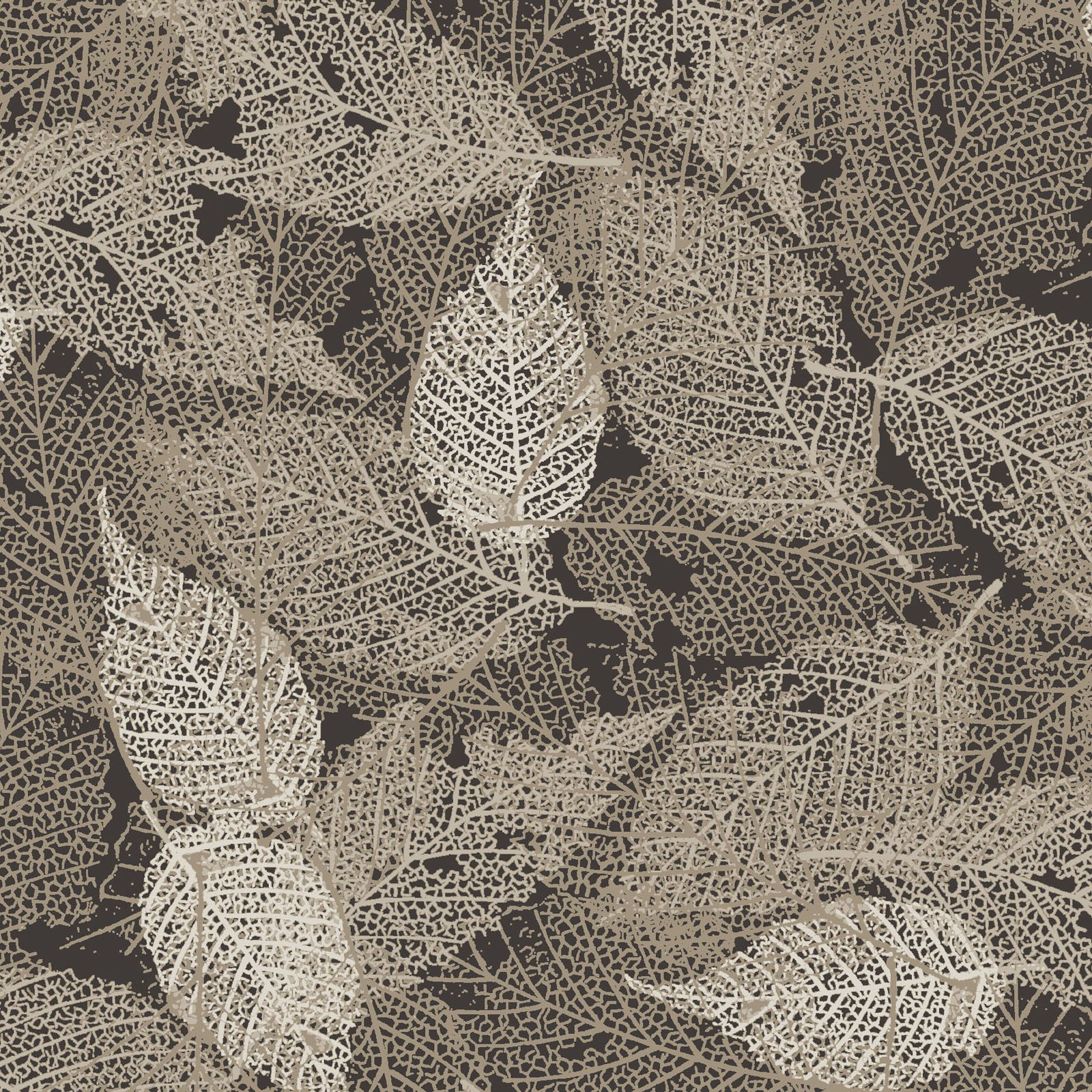 FOLI-4478 GR - FOLIAGE BY P&B BOUTIQUE TEXTURE LEAVES GREY - ARRIVING IN MAY 2021