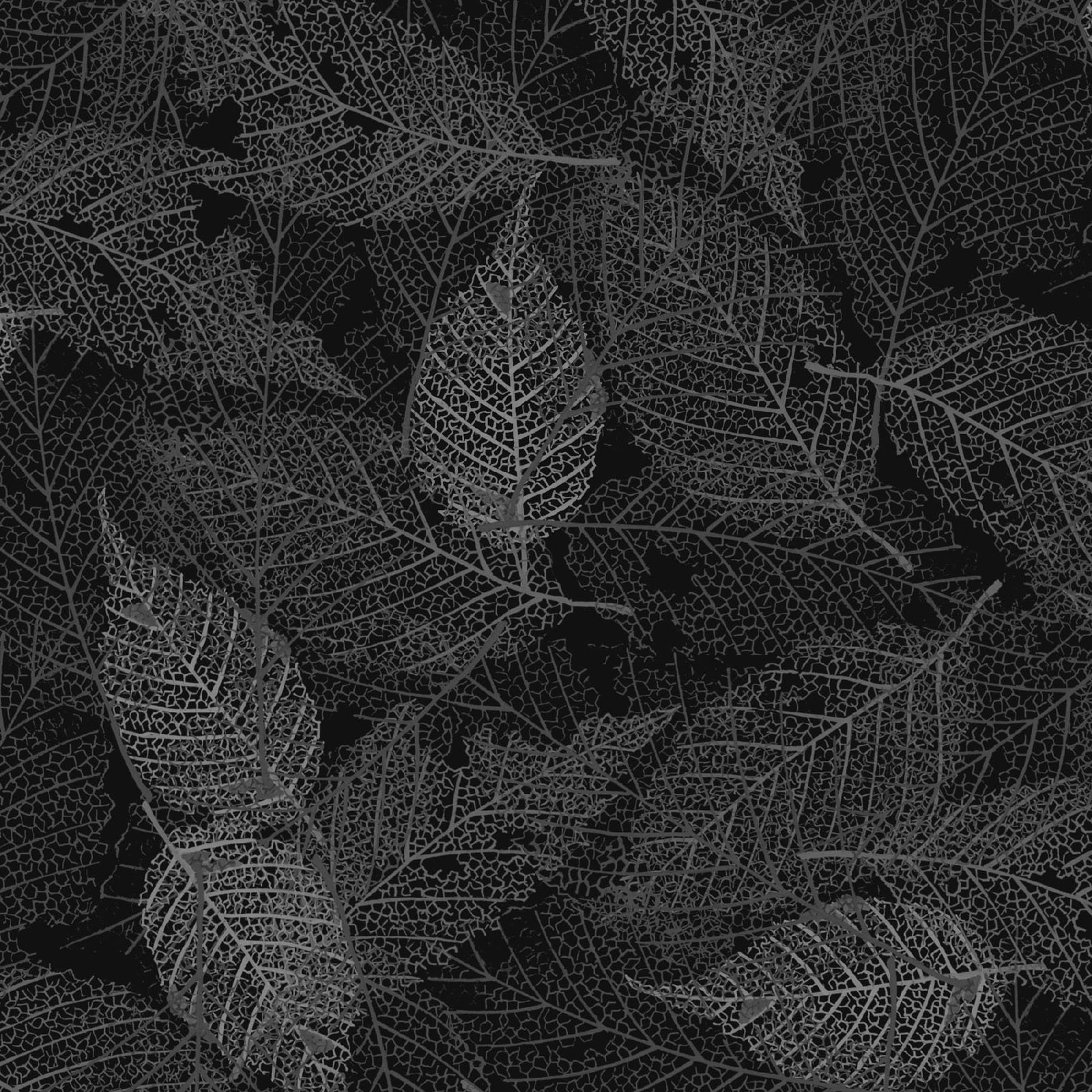 FOLI-4478 K - FOLIAGE BY P&B BOUTIQUE TEXTURE LEAVES BLACK - ARRIVING IN MAY 2021