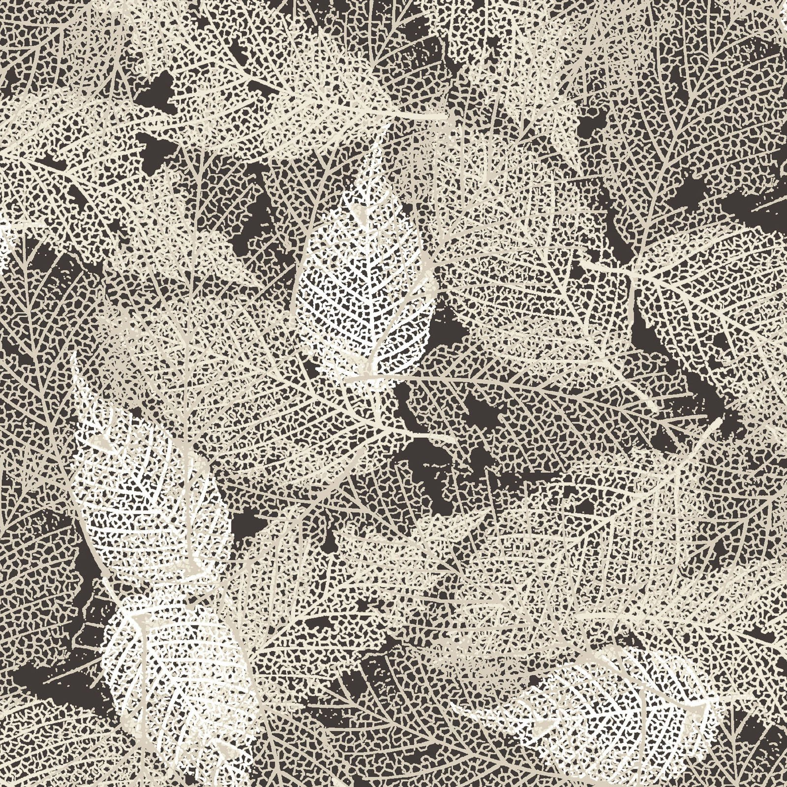 FOLI-4478 LZ - FOLIAGE BY P&B BOUTIQUE TEXTURE LEAVES LT GREY - ARRIVING IN MAY 2021