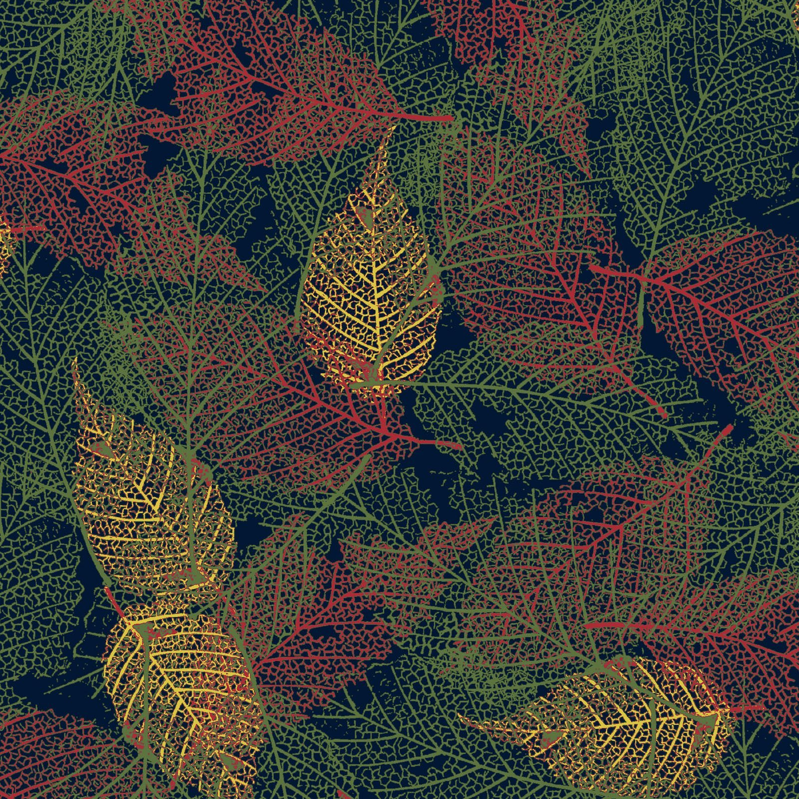 FOLI-4478 MU - FOLIAGE BY P&B BOUTIQUE TEXTURE LEAVES MULTI - ARRIVING IN MAY 2021