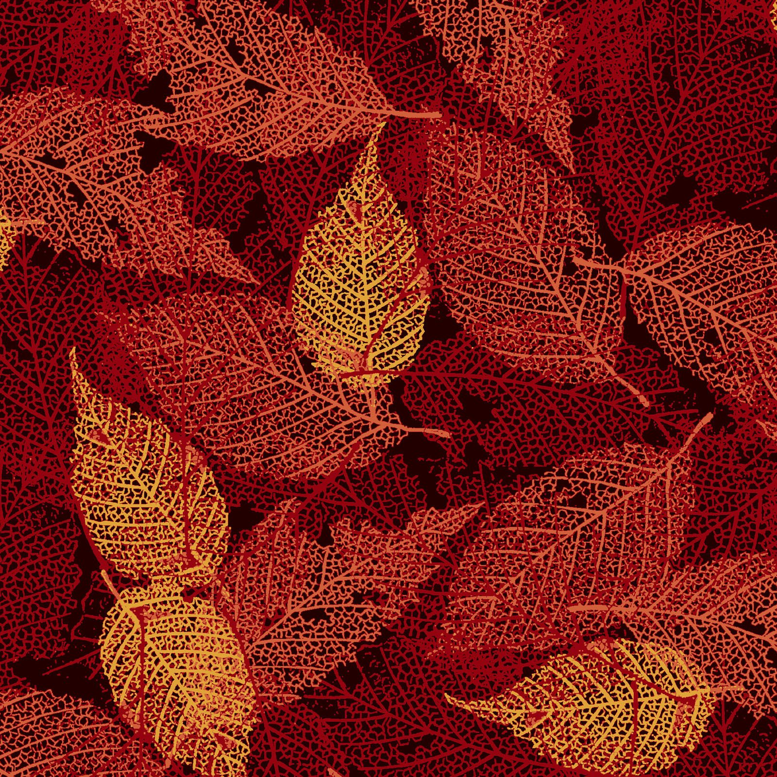 FOLI-4478 OR - FOLIAGE BY P&B BOUTIQUE TEXTURE LEAVES ORANGE - ARRIVING IN MAY 2021
