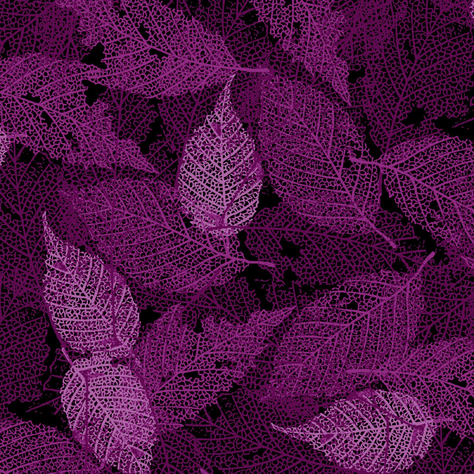 FOLI-4478 RV - FOLIAGE BY P&B BOUTIQUE TEXTURE LEAVES DK VIOLET - ARRIVING IN MAY 2021
