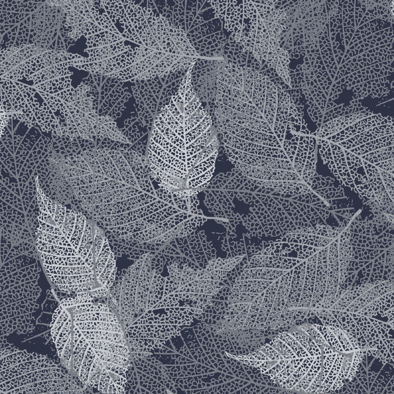 FOLI-4478 S - FOLIAGE BY P&B BOUTIQUE TEXTURE LEAVES SILVER - ARRIVING IN MAY 2021