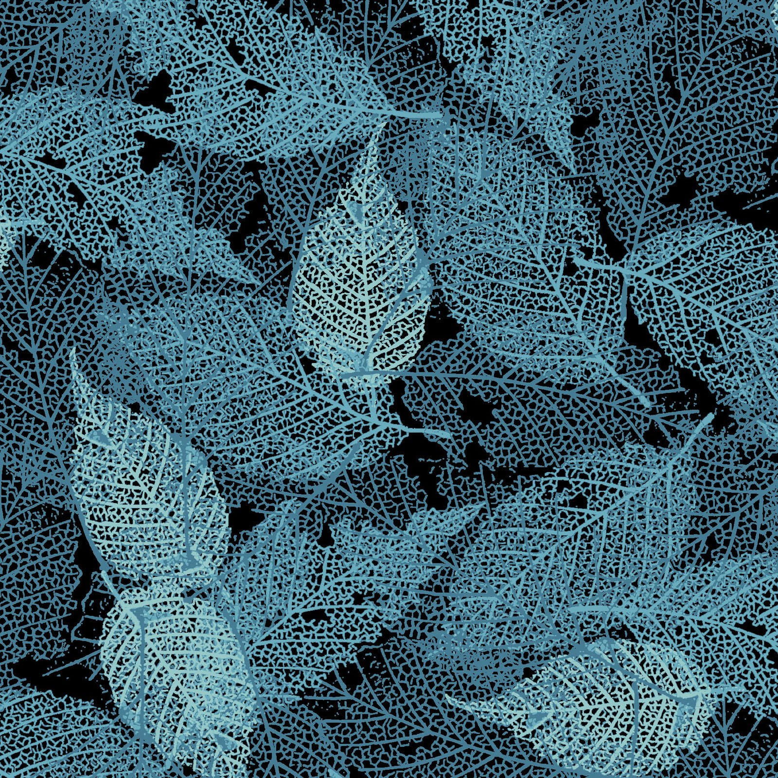 FOLI-4478 T - FOLIAGE BY P&B BOUTIQUE TEXTURE LEAVES TEAL - ARRIVING IN MAY 2021