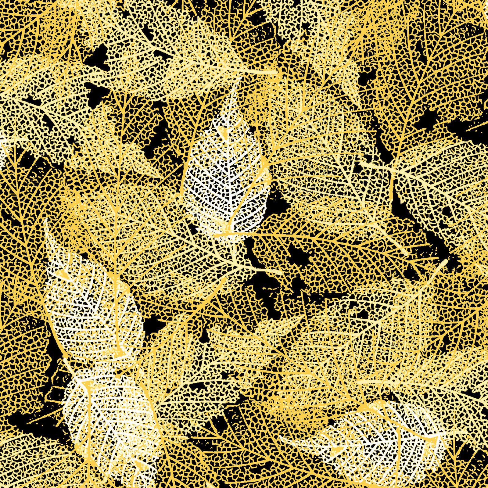 FOLI-4478 YY - FOLIAGE BY P&B BOUTIQUE TEXTURE LEAVES YELLOW - ARRIVING IN MAY 2021