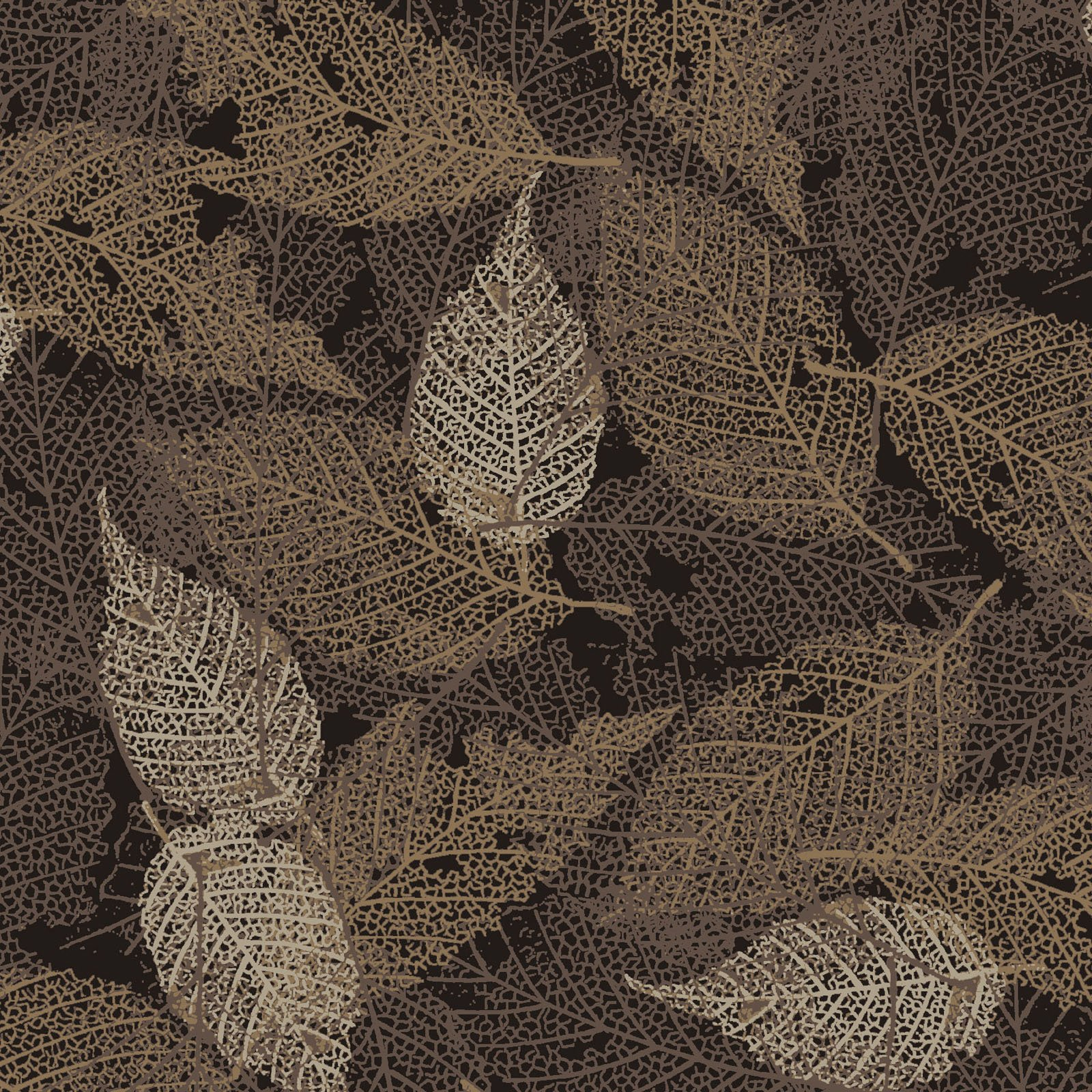 FOLI-4478 Z - FOLIAGE BY P&B BOUTIQUE TEXTURE LEAVES BROWN - ARRIVING IN MAY 2021