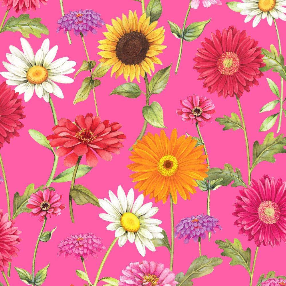 FREC-211 P - FRESH COUNTRY BY SANDY CLOUGH FLOWERS PINK