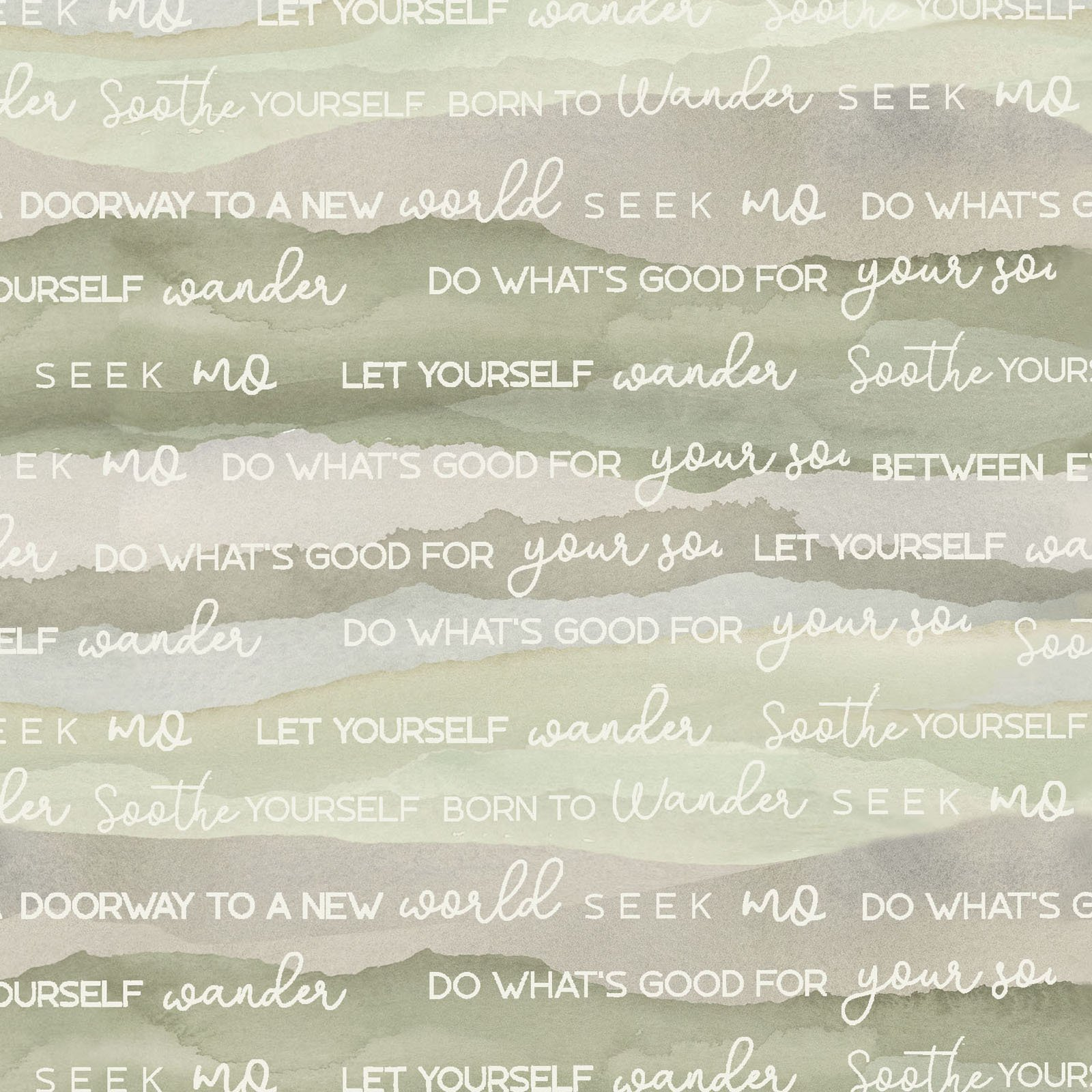 FRET-4337 G - FOREST RETREAT BY JETTY HOME WORDS GREEN
