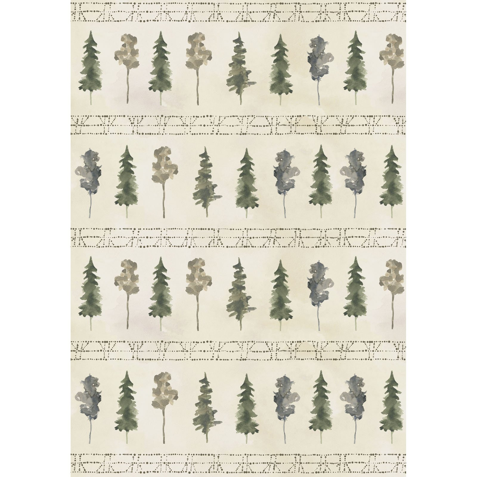 FRET-4340 G - FOREST RETREAT BY JETTY HOME LARGE TREE STRIPE GREEN