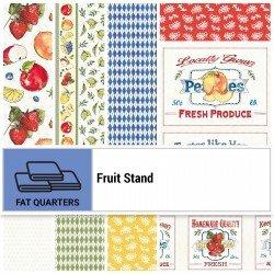 FRUS-18X22 - FRUIT STAND FAT QUARTER 18x22 BY P&B BOUTIQUE 9PCS