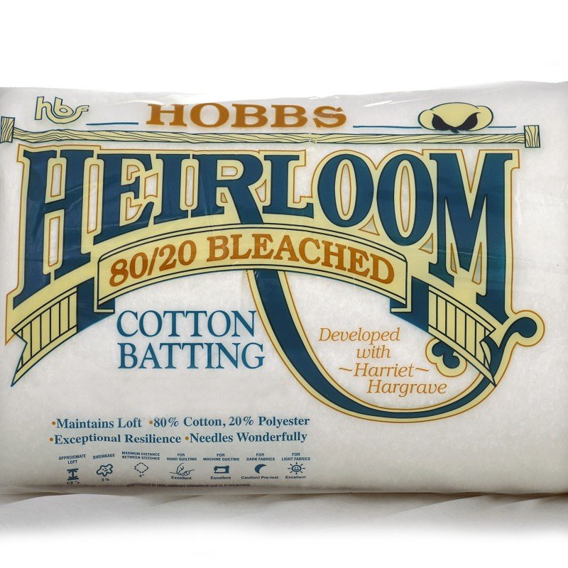 HOBB-BHLBY108 - HEIRLOOM BLEACHED ROLL 80% COT. 20% POLY 108  27.4 MT