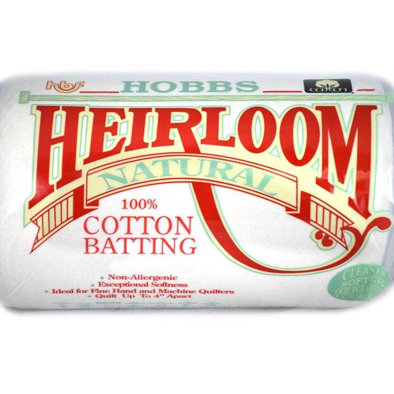HOBB-HN120 - HEIRLOOM NATURAL COTTON BATTING 100%COT.120X120