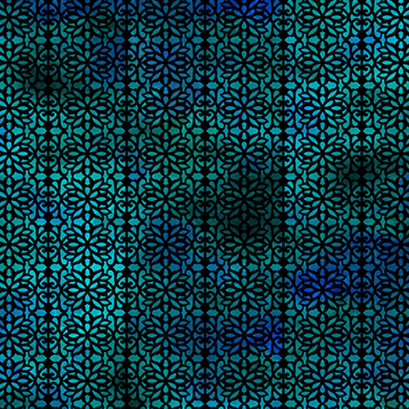 INTH-11FGE 1 - FLORAGRAPHIX V BY JASON YENTER FILIGREE GRN/BLUE