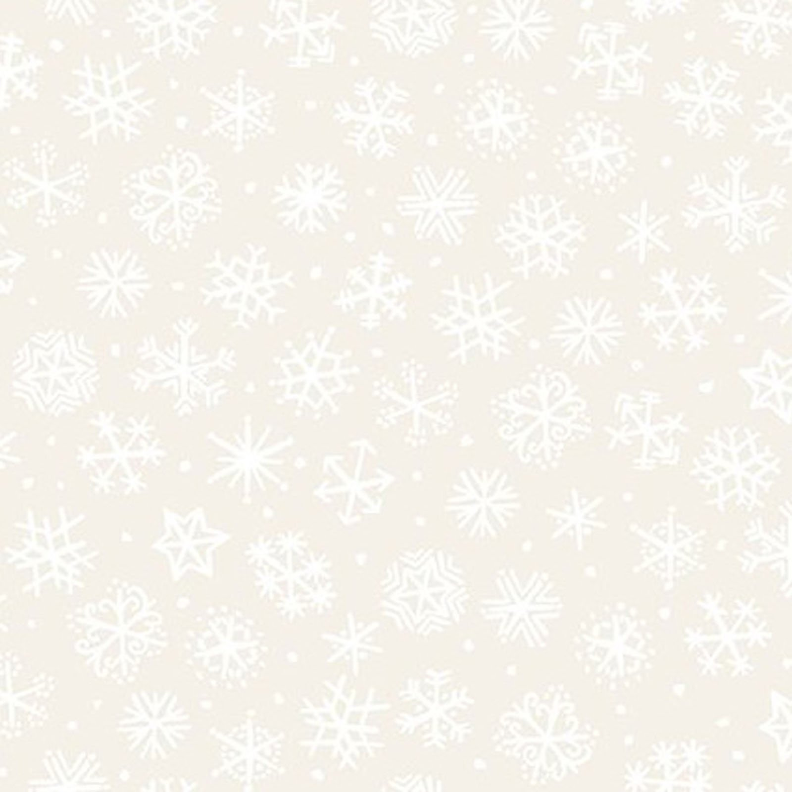 INTH-11JPL 1 - SNOWY BY JULIE PASCHKIS SMALL SNOWFLAKES CREAM - AVAILABLE TO ORDER
