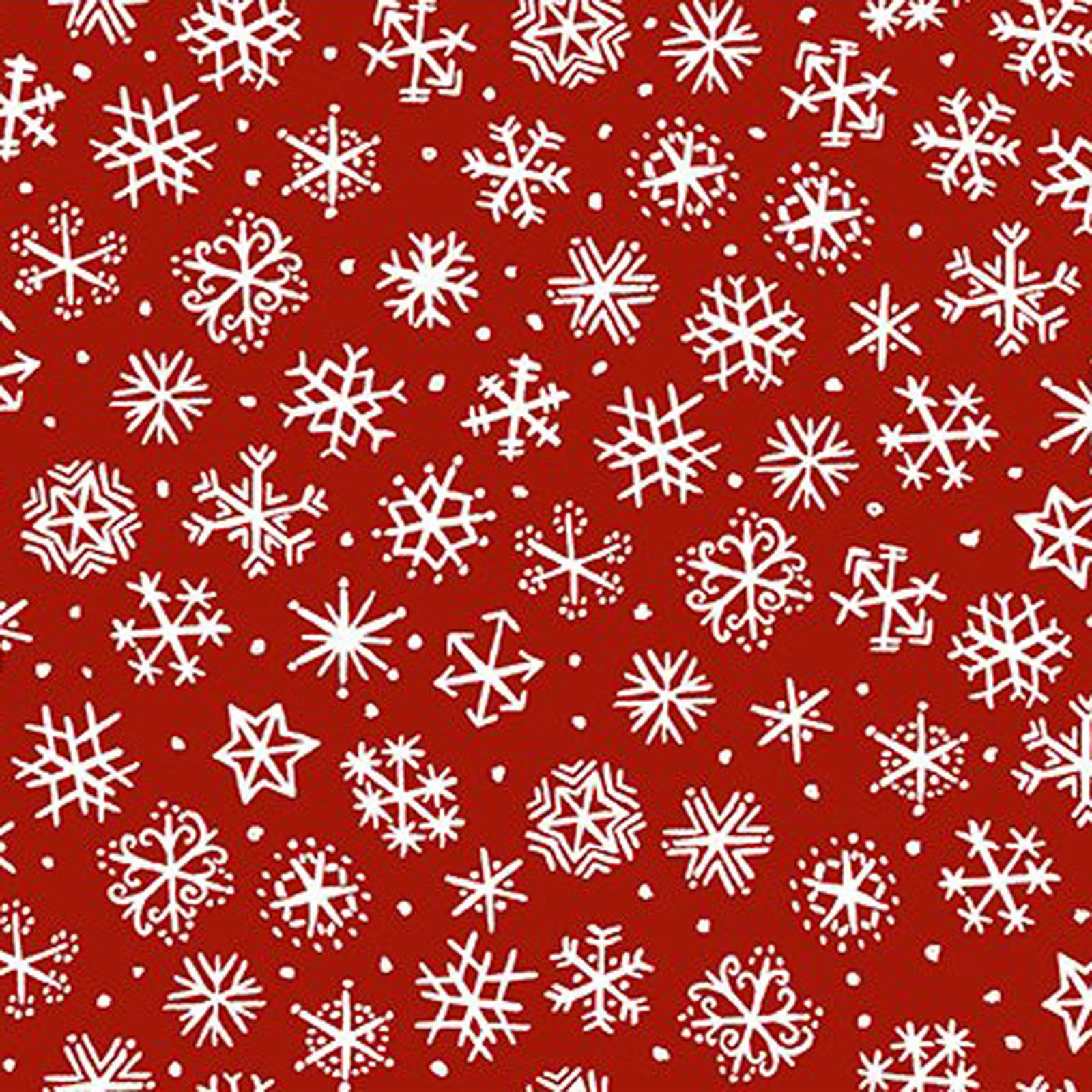 INTH-11JPL 2 - SNOWY BY JULIE PASCHKIS SMALL SNOWFLAKES RED -ARRIVING IN JUNE 2021