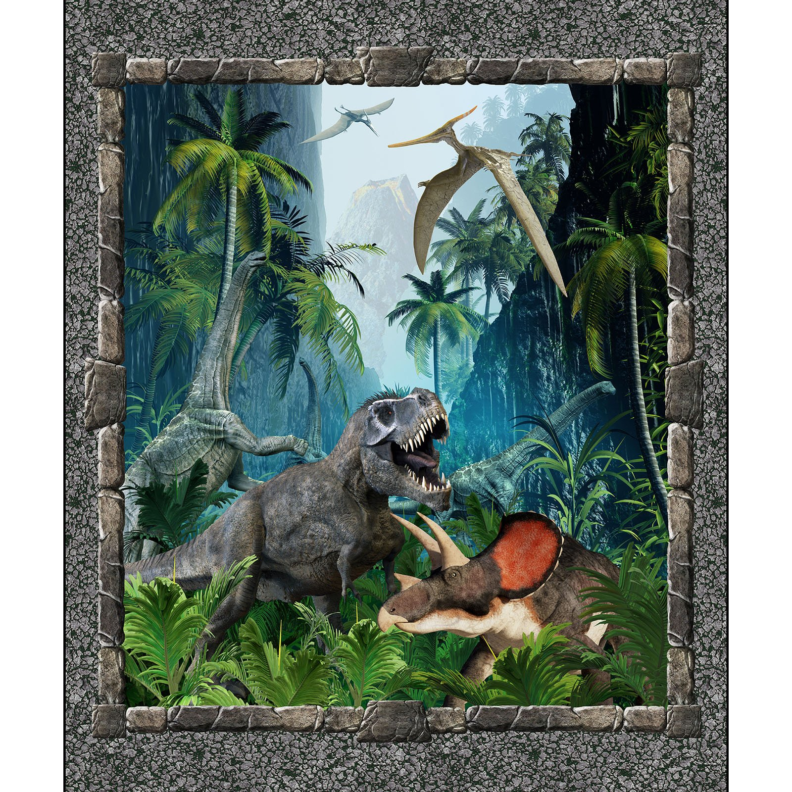 INTH-1JUR 1 - JURASSIC BY IN THE BEGINNING DINOSAUR LARGE PANEL MULTI