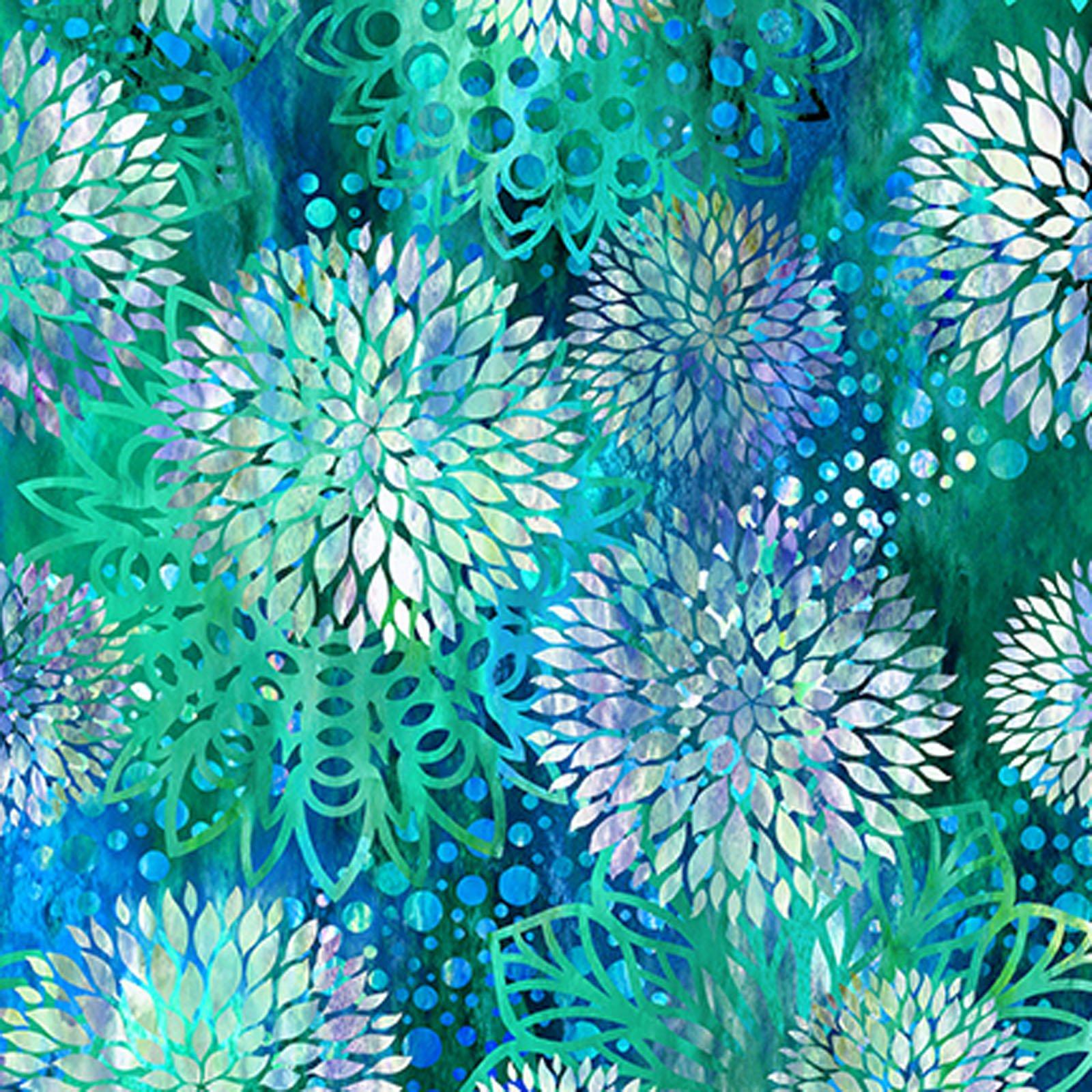 INTH-3FGE 2 - FLORAGRAPHIX V BY JASON YENTER CHRYSANTHEMUM BLUE