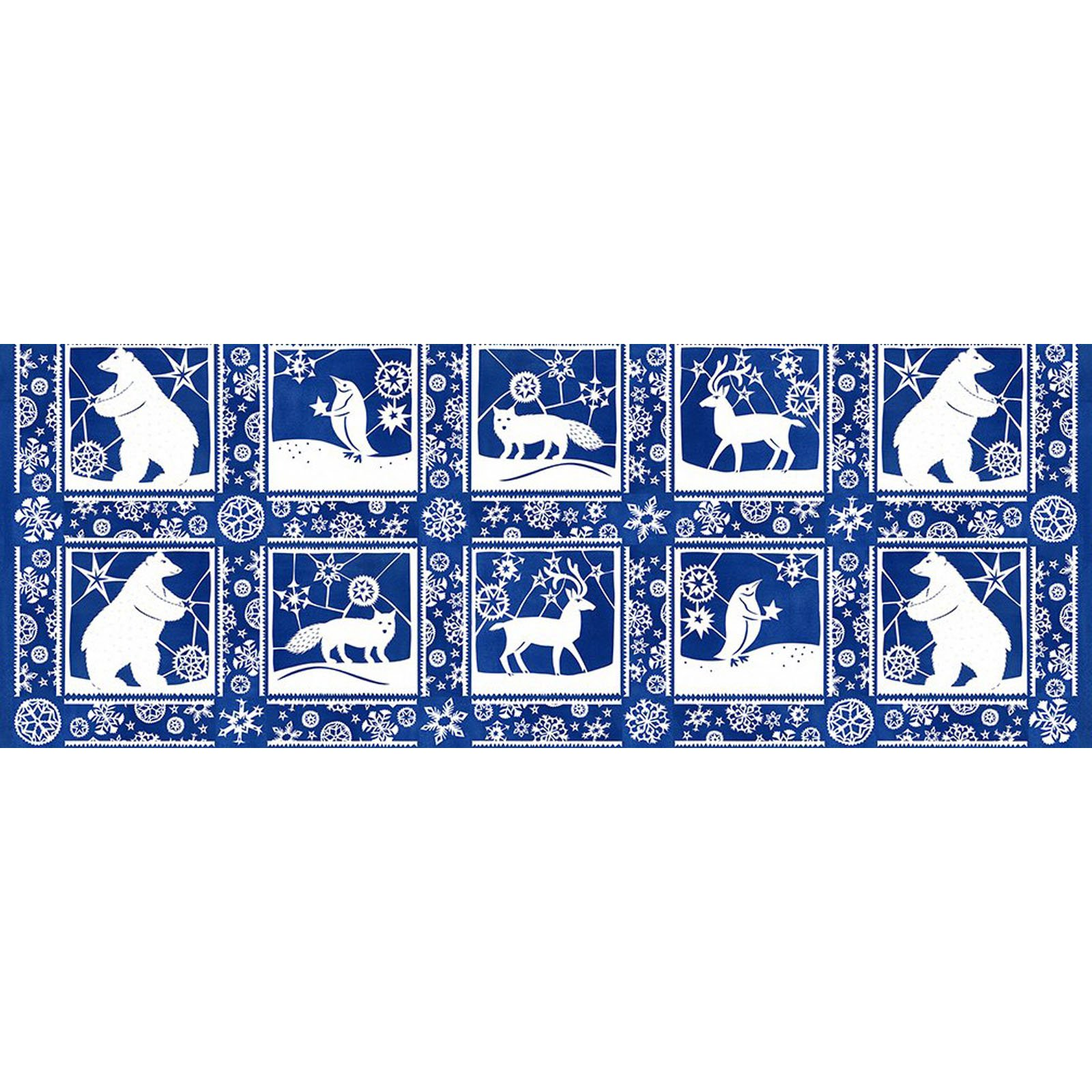 INTH-4JPL 1 - SNOWY BY JULIE PASCHKIS PAPER CUTS BLUE - AVAILABLE TO ORDER