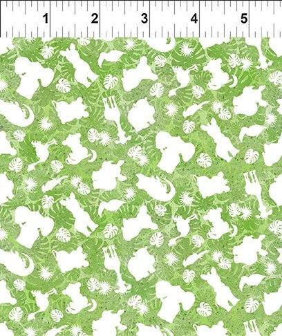 INTH-6JF 1 - JUNGLE FRIENDS BY IN THE BEGINNING STUDIO ANIMAL TONAL GREEN - ARRIVING IN DECEMBER 2021