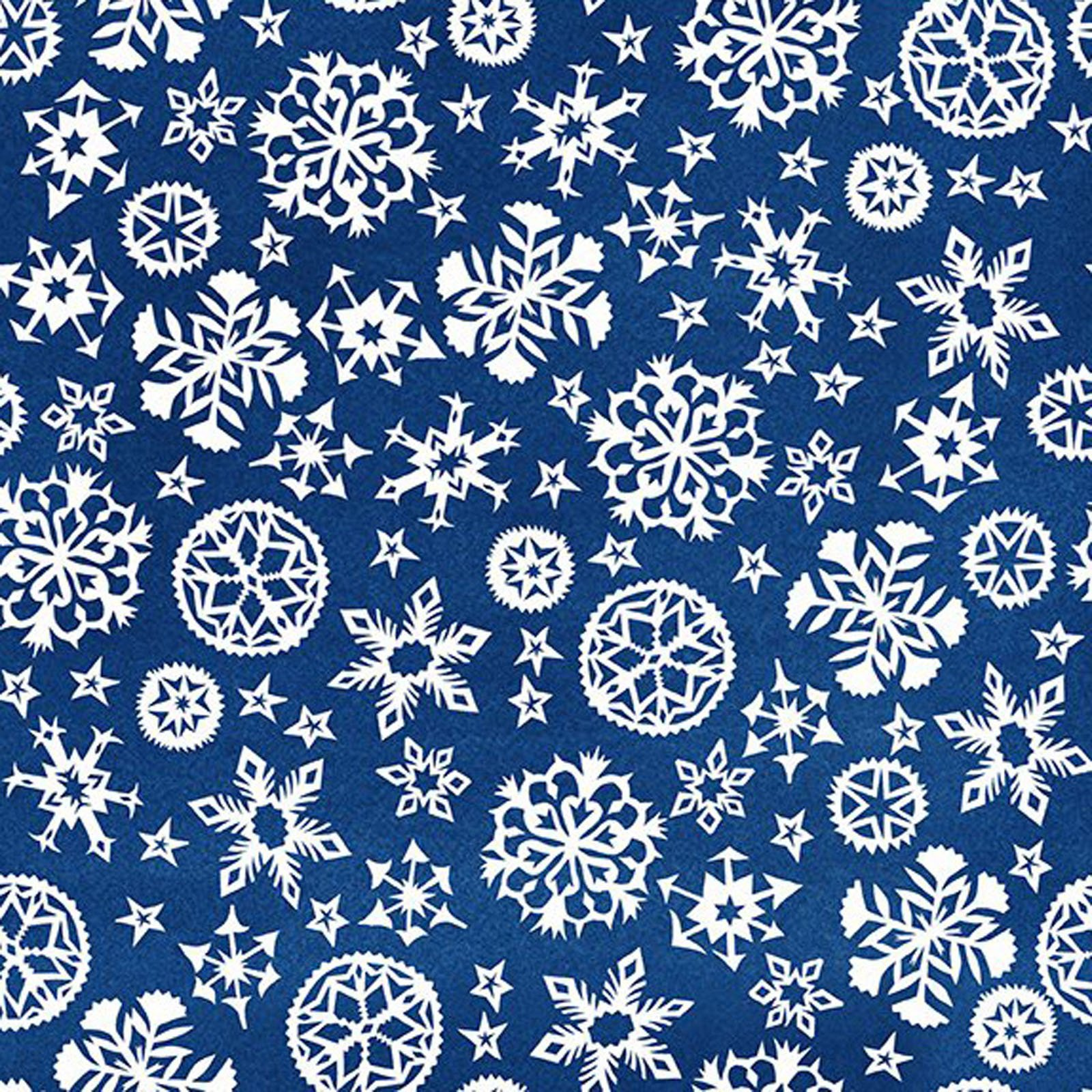 INTH-7JPL 1 - SNOWY BY JULIE PASCHKIS SNOWFLAKES BLUE - AVAILABLE TO ORDER