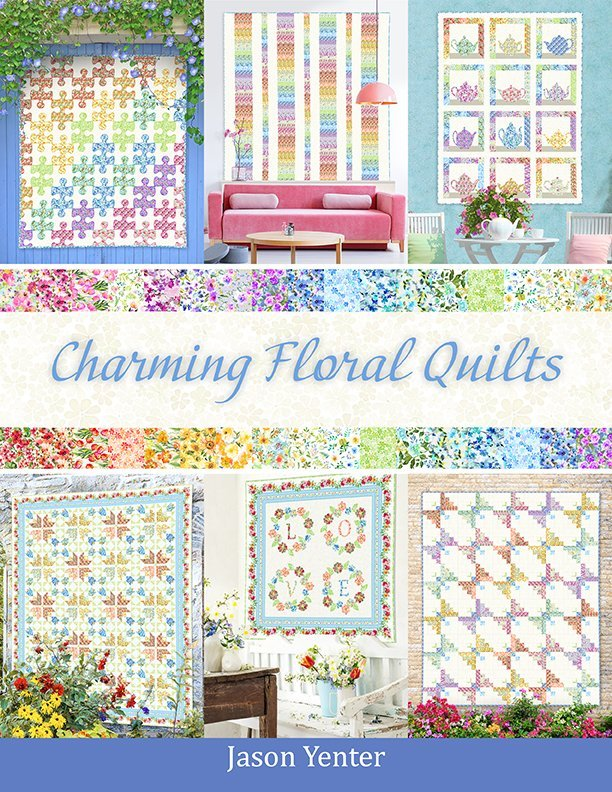 INTH-GSH BK - WATERCOLOR BEAUTY - CHARMING FLORAL QUILTS BOOK - ARRIVING IN MAY 2021