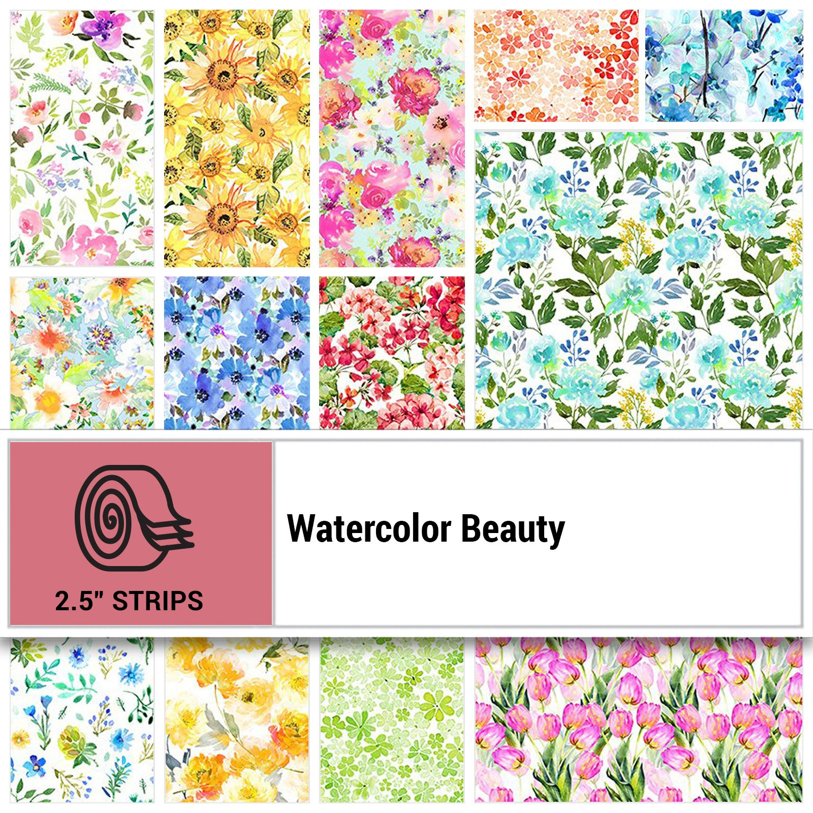 INTH-GSH SR - WATERCOLOR BEAUTY 2.5 STRIP ROLLS (18GSH 1 NOT INCLUDED) - ARRIVING IN MAY 2021