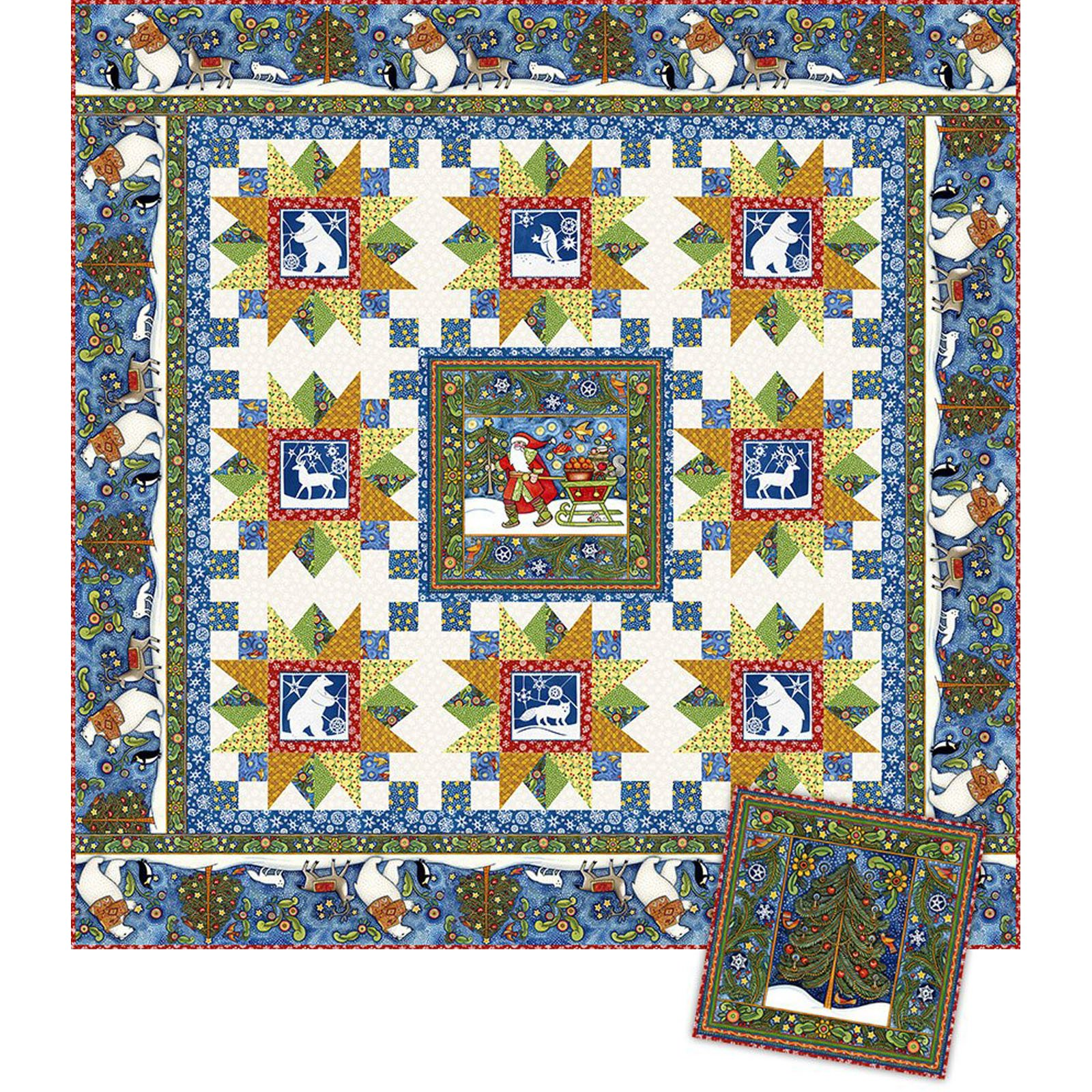 INTH-JPL PATT - SNOWY QUILT & PILLOW PATTERN  - AVAILABLE TO ORDER