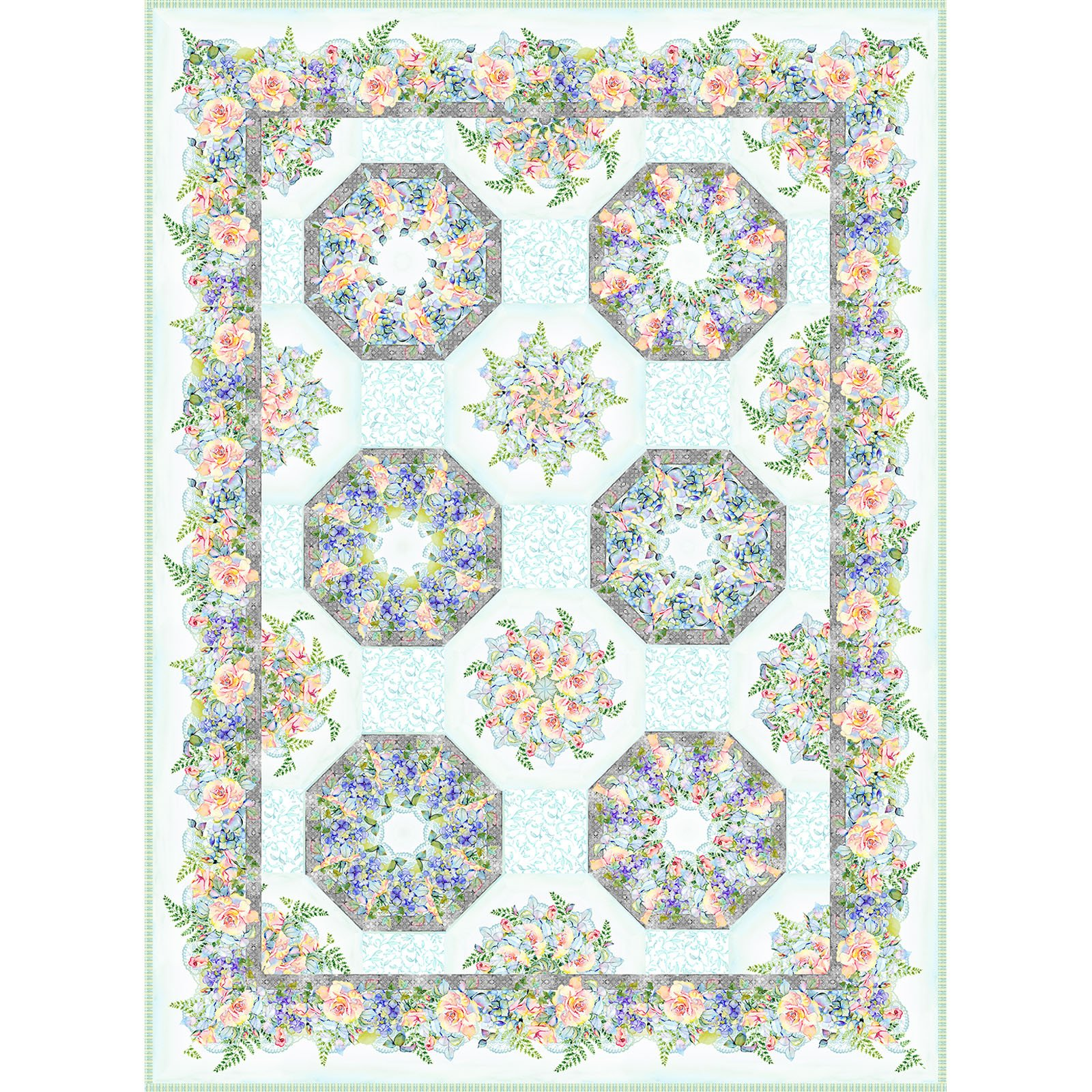 INTH-PAT K PATT - THE PATRICIA COLLECTION - KALEIDOSCOPE QUILT PATTERN- DELIVERY MARCH 2021