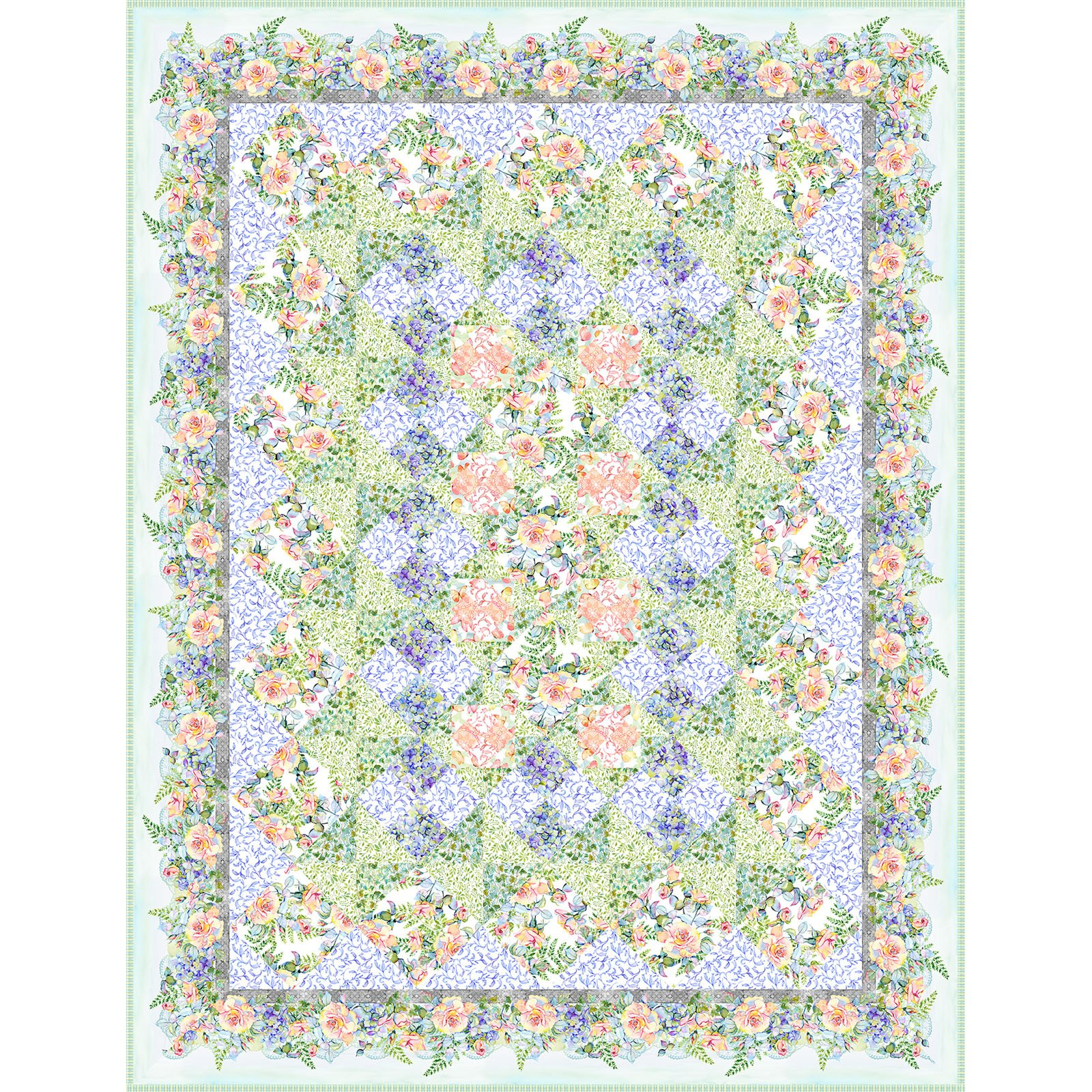 INTH-PAT PQ PATT - THE PATRICIA COLLECTION - PATRICIA QUILT PATTERN- DELIVERY MARCH 2021