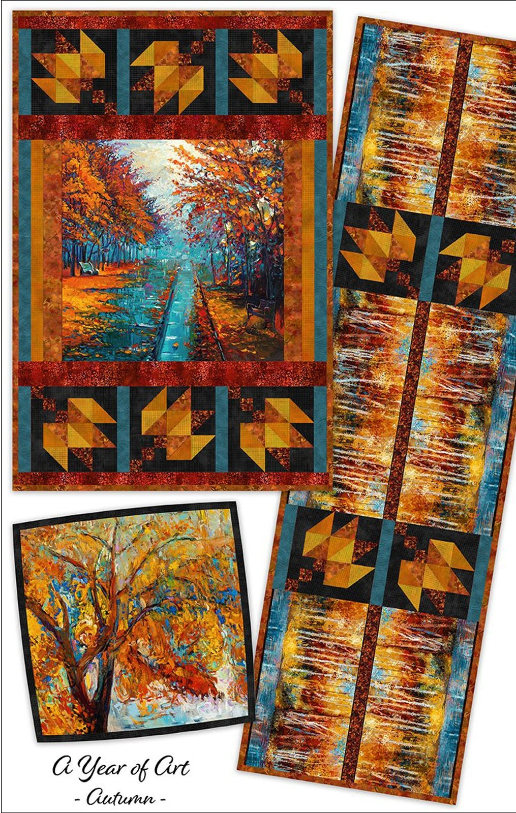 INTH-YOA A PATT - A YEAR OF ART - AUTUMN QUILT PATTERN - ARRIVING IN AUGUST 2022