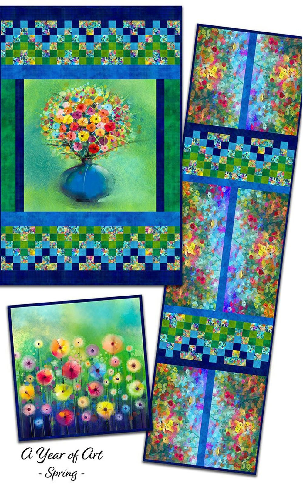 INTH-YOA SP PATT - A YEAR OF ART - SPRING QUILT PATTERN - ARRIVING IN FEBRUARY 2023