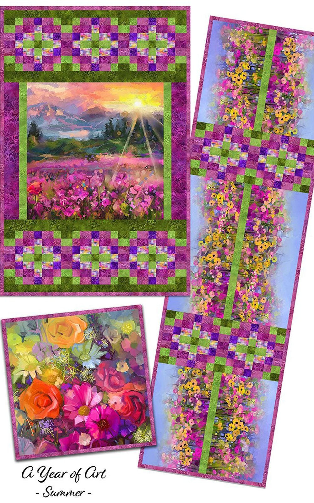 INTH-YOA SU PATT - A YEAR OF ART - SUMMER QUILT PATTERN - ARRIVING IN MAY 2022