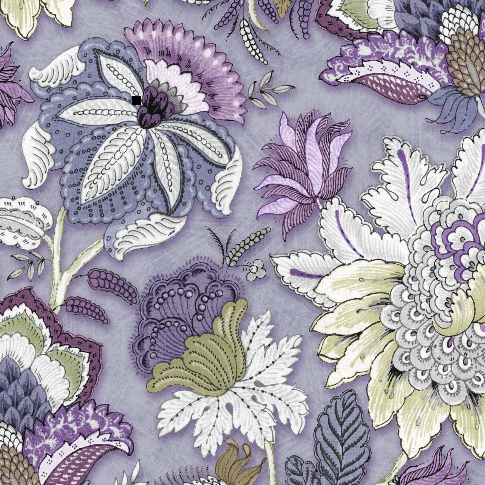 KASK-4099 C  - KASHMIR KALEIDOSCOPE BY P&B BOUTIQUE FLORAL PURPLE