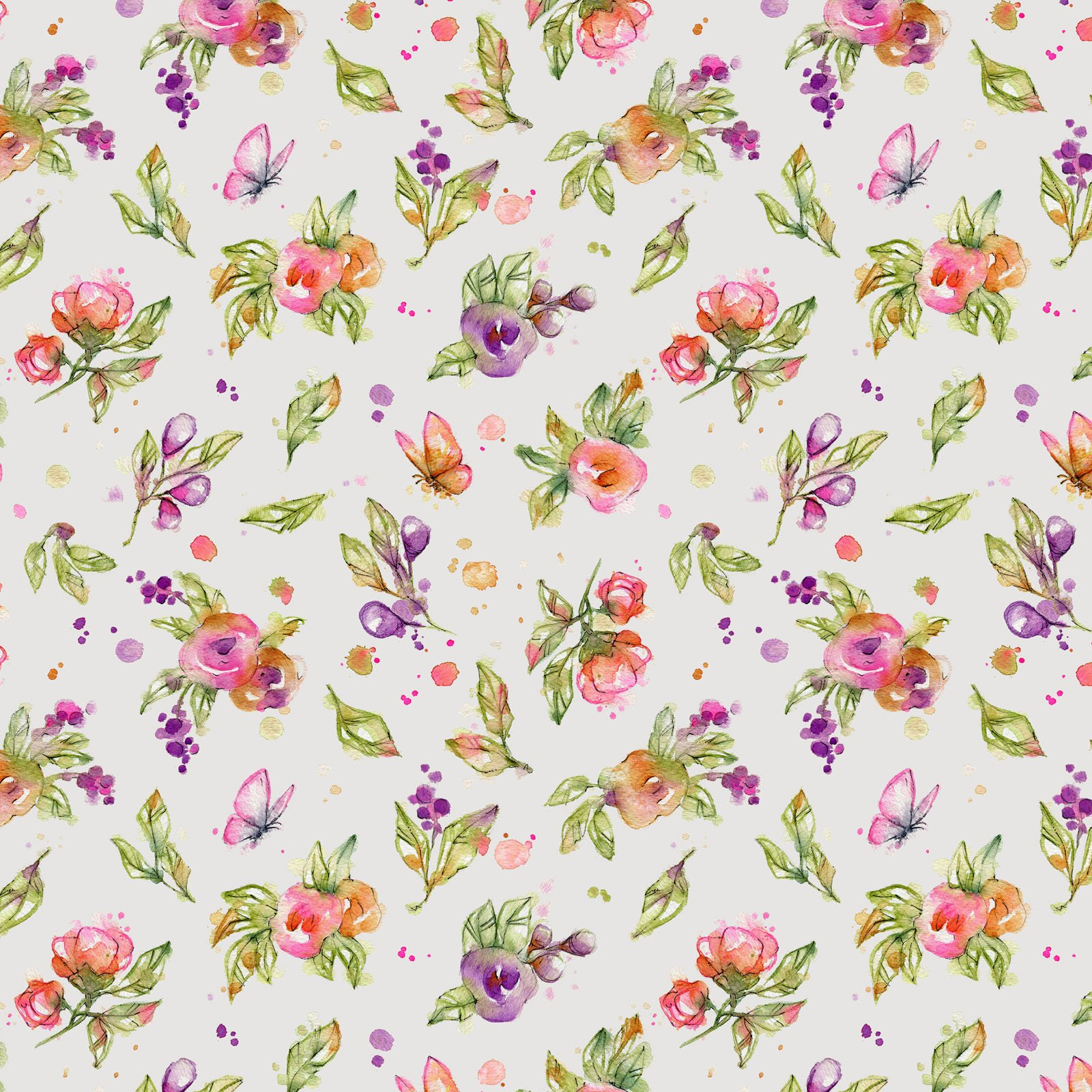 LIDW-4346 S - LITTLE DARLINGS WOODLAND BY SILLIER THAN SALLY FLOWERS GREY