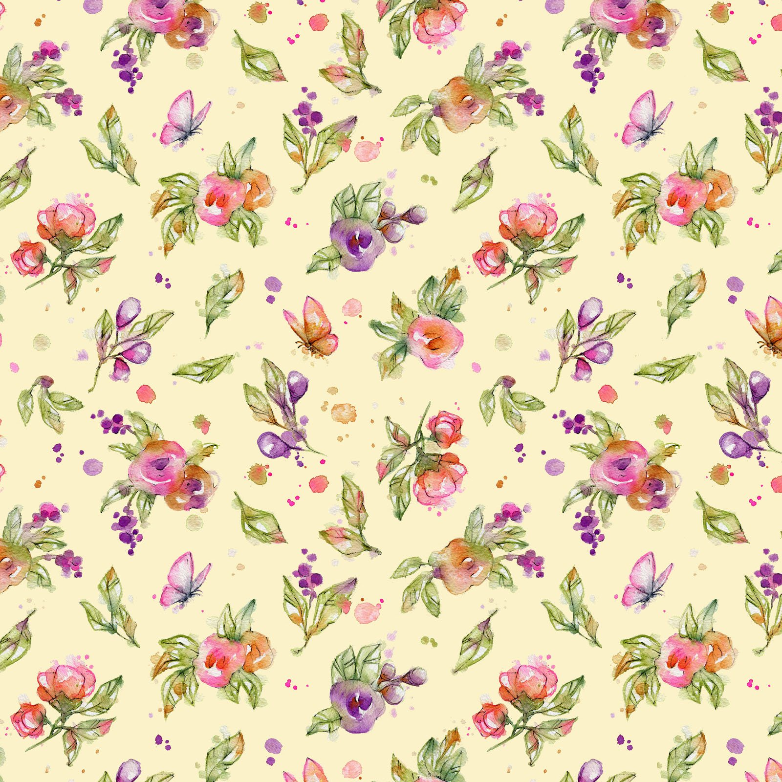 LIDW-4346 Y - LITTLE DARLINGS WOODLAND BY SILLIER THAN SALLY FLOWERS YELLOW
