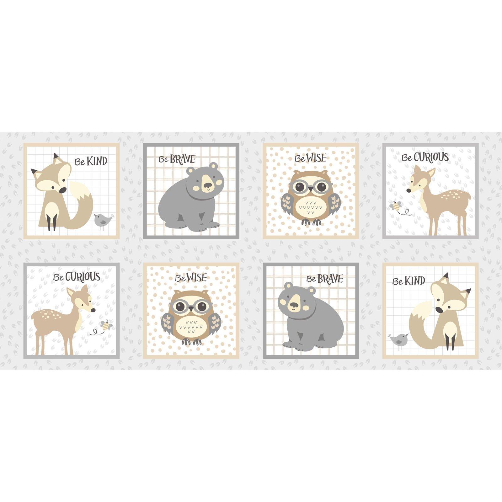 LITC-4293 MU - LITTLE CRITTERS BY ROBIN RODERICK SQUARE ANIMALS MULTI
