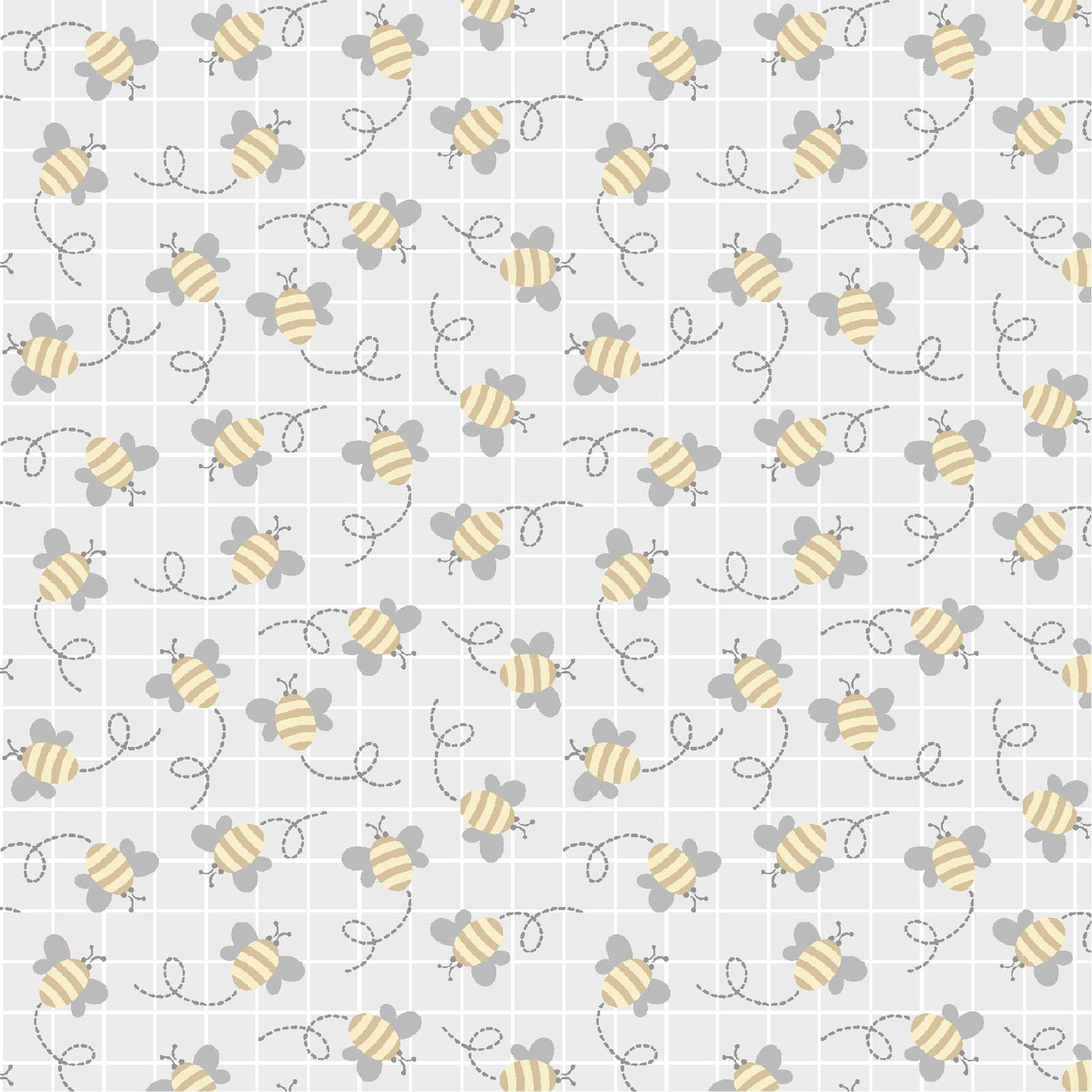 LITC-4295 S - LITTLE CRITTERS BY ROBIN RODERICK BEE GREY