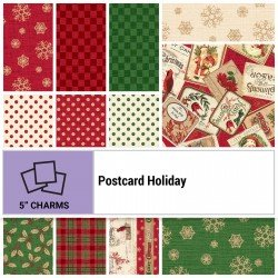 POHO-005X5 - POSTCARD HOLIDAY 5 SQUARES BY P&B BOUTIQUE 42PCS - ARRIVING IN JUNE 2021