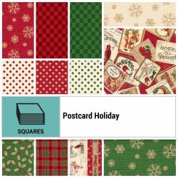 POHO-10X10 - POSTCARD HOLIDAY 10 SQUARES BY P&B BOUTIQUE 42PCS - ARRIVING IN JUNE 2021