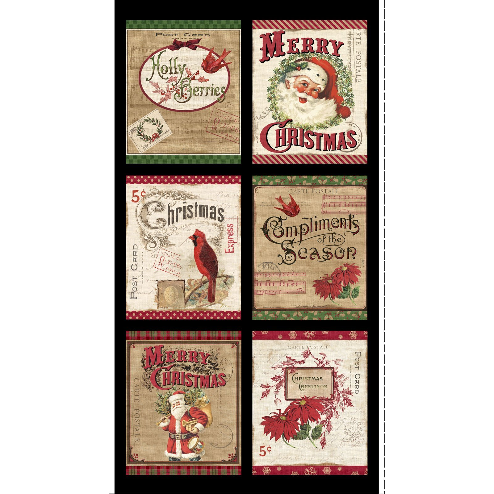 POHO-4439 PA - POSTCARD HOLIDAY BY PELLA STUDIO HOLIDAY PANEL 10YDS(15PNLS) MULTI - ARRIVING IN JULY 2021
