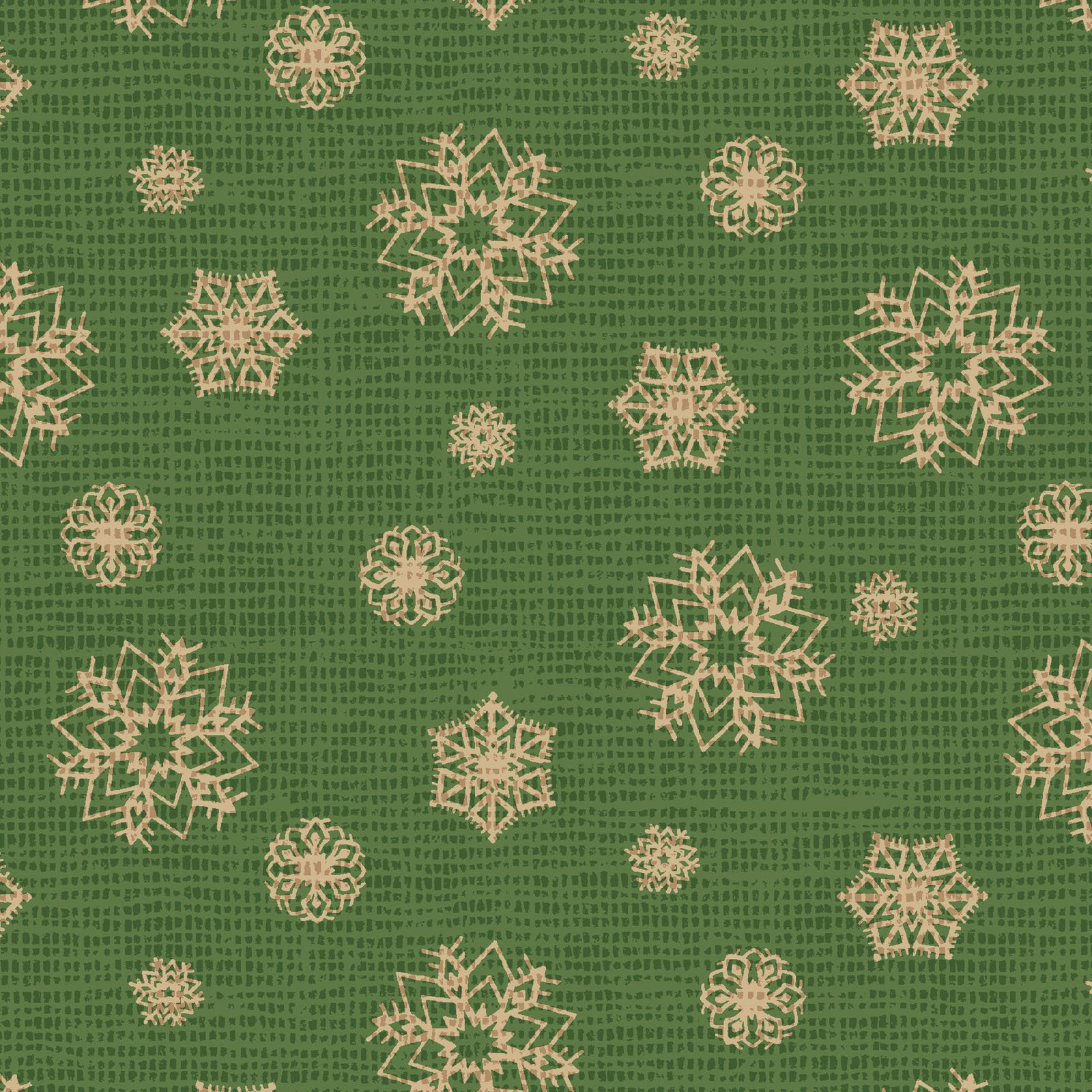 POHO-4442 G - POSTCARD HOLIDAY BY PELLA STUDIO SNOWFLAKE GREEN - ARRIVING IN JULY 2021