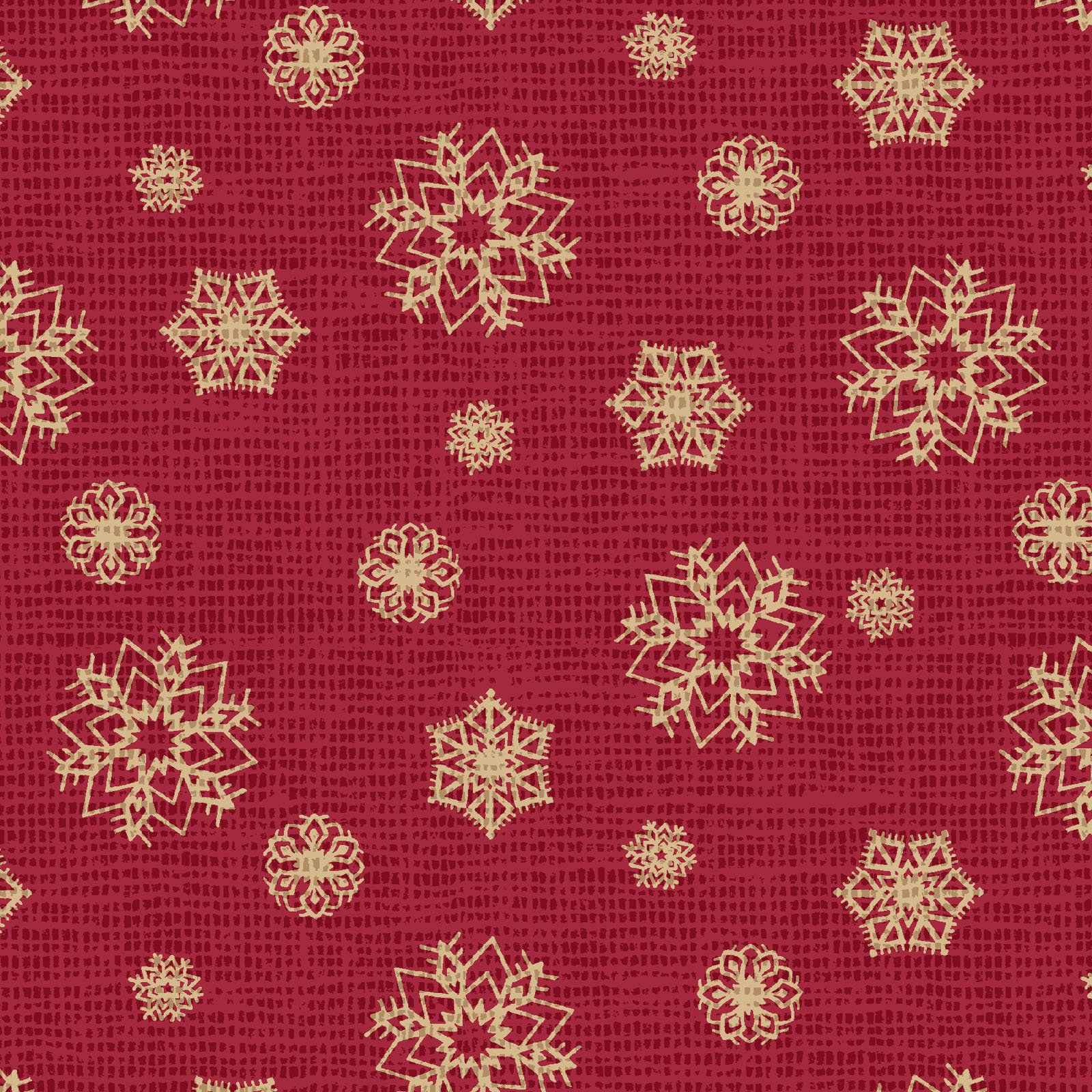 POHO-4442 R  - POSTCARD HOLIDAY BY PELLA STUDIO SNOWFLAKE RED - ARRIVING IN JULY 2021